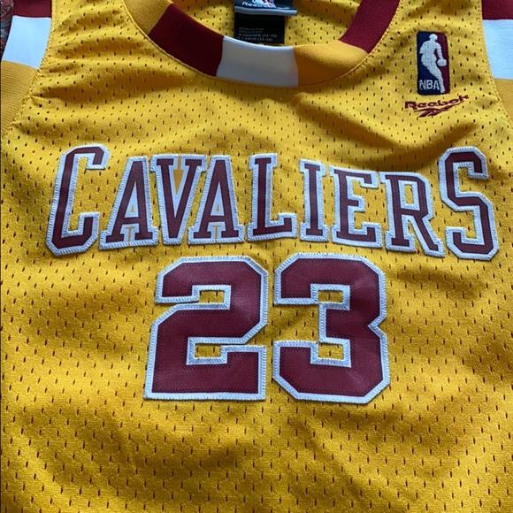 Kids Cavaliers Basketball Jersey #23 James size L